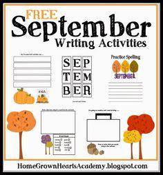 FREE September Writing Activities #homeschool #September #writing