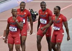US men's 4x100 meter relay earned silver with a new American record of 37.04, tying the previous world record.
