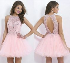 Luxurious Crystal Beaded Backless Short Prom Dresses,Applique Tulle Homecoming Dresses,Sparkly Custom Made Homecoming Party Gowns 2016 Homecoming Dresses, Hoco Dresses, Cheap Prom Dresses, Dance Dresses, Pretty Dresses, Beautiful Dresses, Evening Dresses, Formal Dresses, Dresses 2016