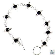 Black onyx Silver Bracelet L-7.5in sightly Black jaipur AU gift