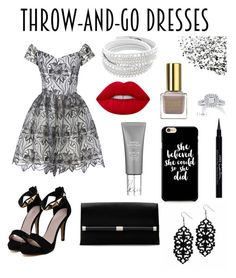 """Easy Peasy: Throw-and-Go-Dresses"" by hadzic-ramiza ❤ liked on Polyvore featuring Alice + Olivia, Givenchy, Lime Crime, Diane Von Furstenberg, Vera Wang and easypeasy"
