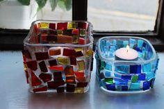 Soo's Creaxions Mosaic, Candle Holders, Candles, Mosaics, Porta Velas, Candy, Candle Sticks, Mosaic Art, Candlesticks