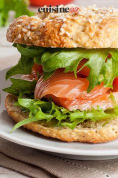 Une idée originale de hamburgers avec du saumon et des radis. #recette#cuisine#hamburger#saumon #radis Hamburgers, Gourmet, House Burger, Healthy Meals, Yummy Recipes, Burgers, Hamburger
