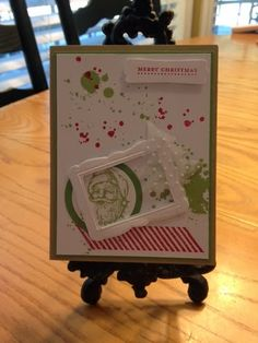 3 Monkeys throwing around some.: Casing a Card- Copy and Share Everything! Stampin' Up Gorgeous Grunge Christmas Card Homemade Christmas Cards, Stampin Up Christmas, Homemade Cards, Handmade Christmas, Christmas Crafts, Origami, Card Envelopes, Xmas Cards, Holiday Cards