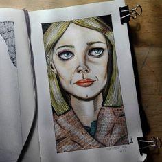 Margot Tenembaum #TheRoyalTenembaums #fanart #illustration #artwork #doodle #ink