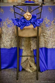 Decorate your chair with the look of elegance with this royal blue pintuck chair sash. This high quality pintuck chair sash is perfect for wedding events, parties, celebrations, graduations, or any special event. Wedding Chair Decorations, Wedding Chairs, Decoration Table, Wedding Table, Petals Florist, Fancy Chair, Party Chairs, Chiavari Chairs, Atlanta Wedding