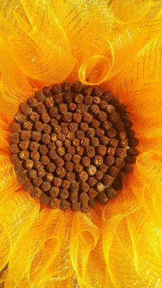 Yellow Sunflower Wreath Deco Mesh Sunflower Wreath  Summer