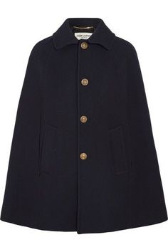 Midnight-blue wool-blend twill Button fastenings through front 99% wool, 1% silk Dry clean Made in Italy