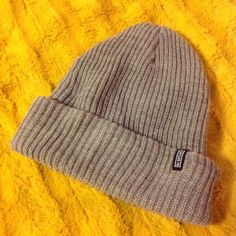 Captain Fin gray knit cap Cozy foldover knit stocking hat. Never worn Captain Fin Accessories Hats