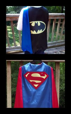 Super Hero Cape Batman or Superman inspired by littleshepsters, $28.00