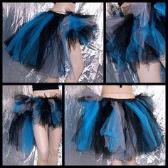 Grey Blue Black Burtons Cheshire Cat Alice Wonderland Trashy BustleTuTu All Sizes MTCoffinz