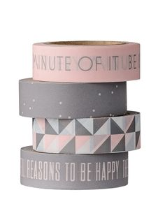 Pink and Gray Washi Tape Set Stationary Supplies, Stationary School, Cute Stationary, Deco Tape, Cool School Supplies, School Accessories, Masking Tape, Washi Tapes, Gris Rose