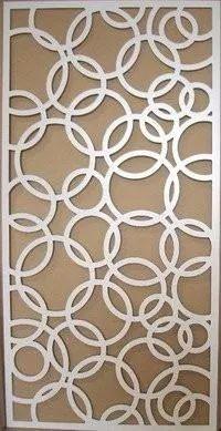 painel  quadro mdf vazado parede  divisória ambiente 90x60cm