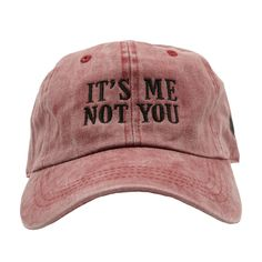 It's Me Not You Dad Hat - Red Denim – Ace Hat Collection