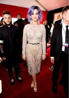 Who: Katy Perry Every Single Grammy Awards Red Carpet Look You NEED to See via @WhoWhatWear