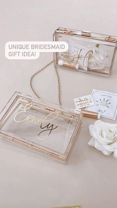 Bridesmaid Gift Boxes, Wedding Gifts For Bridesmaids, Bridesmaids And Groomsmen, Gifts For Wedding Party, Diy Wedding, Dream Wedding, Wedding Day, Bridesmaid Proposal Gifts, Wedding Gift Boxes