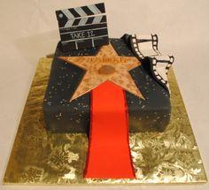 Hollywood Walk of Fame Star -Red Carpet-Clapboard Cake