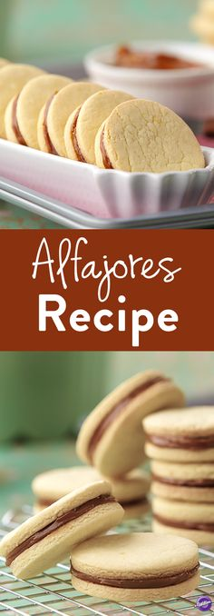 Alfajores Recipe - Get ready to go on a sweet South American adventure with the delicate and flavorful Alfajores. Infused with Brandy and filled with rich and creamy dulce de leche, these unique cookies are as smooth as silk, with just a hint of sour fruit flavor, that only lemon zest can provide.