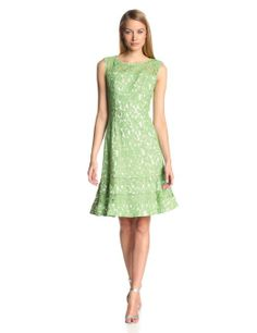 399bac11e1128 Adrianna Papell Women s Cutaway Sleeve Shift Lace Dress at Amazon Women s  Clothing store Clothing Tags