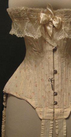 "vaninavaninni: ""Edwardian corset, From Anton Priymak collection. Vintage Corset, Vintage Underwear, Vintage Lingerie, Edwardian Fashion, Vintage Fashion, Edwardian Era, Ballet Russe, Vintage Outfits, Look At My"