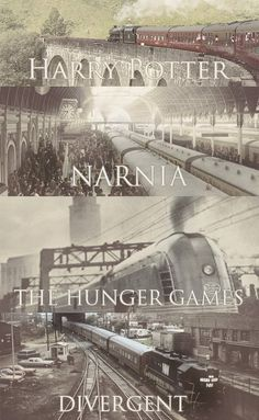 Harry Potter, Narnia, The Hunger Games, and Divergent - four amazing stories with trains. Film X, Film Serie, Hunger Games, I Love Books, Good Books, Tribute Von Panem Film, Fantasy Magic, Fantasy Movies, Citations Film