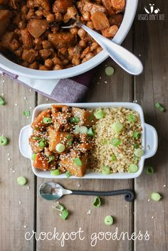 Crockpot Chickpeas, Carrots & Potatoes, a vegan twist on a Korean dish that will leave you wanting more. Full of protein and flavor, this is one you won't want to miss!