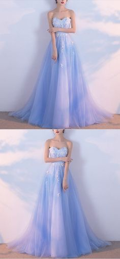 Charming Prom Dress,Long Prom Dresses,Prom Dresses,Evening Dress, Prom Gowns, Formal Women Dress, M1449#prom #promdress #promdresses #longpromdress #promgowns #promgown #2018style #newfashion #newstyles #2018newprom #eveninggown #blue #aline #sweetheartneck #strapless #eveningdress #tulle