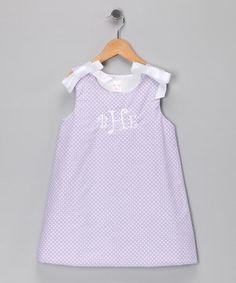 Look at this #zulilyfind! Lilac Polka Dot Monogram Jumper - Infant & Toddler by Lollypop Kids Clothing #zulilyfinds