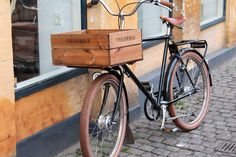 Bike for carrying goods in Copenhagen