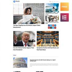 24.Storycle lite - Multipurpose News Portal Elementor. WPML ready Template WordPress Wordpress Template, Wordpress Theme, Presentation Templates, Pitch, Newspaper, Announcement, Promotion, Deck, Content