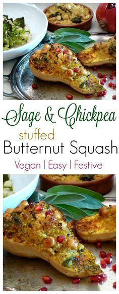Chickpea & Sage Stuffed Baked Butternut Squash. use quinoa