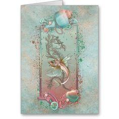 Fantasy Fish Art Nouveau Card