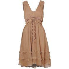 Vila LIK DRESS - Summer Dress - beige - Zalando.co.uk found on Polyvore