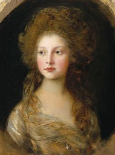 Princess Elizabeth by Thomas Gainsborough, 1782. Daughter of King George III and Queen Charlotte