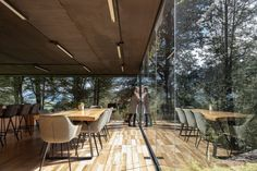 For the extension, the firm conceived a single-storey, glazed box that is lifted above the sloped terrain and is supported by a system of metal channels. Plywood Storage, Underfloor Heating Systems, Glass Extension, Sewage System, Rural House, Glass Boxes, House Extensions, Ecuador, The Expanse