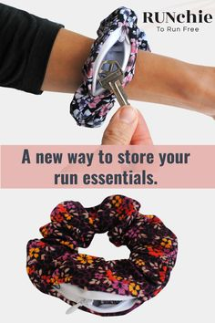 RUNchie: an athletic scrunchie with a zipper pocket to store small essentials on your run. Made with moisture wicking fabric that grips the hair without pulling. Keeps the pony as high as your goals. RUN free with the RUNchie. Tempo Run, Trash To Couture, Beaded Jewelry Patterns, Workshop Ideas, Clothing Hacks, How To Run Longer, Refashion, Saving Tips, Scrunchies