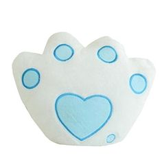Euone Footprint Type Shaped LED Pillow 7 Color Changing Light Up Soft Cushion White *** See this great product.