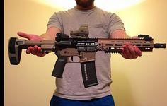 Ar Pistol Build, Ar15 Pistol, Ar Build, Military Weapons, Weapons Guns, Guns And Ammo, Firearms, Shotguns, Battle Rifle