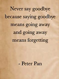 peter pans got it right