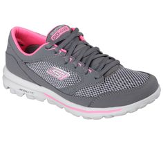 Skechers GOwalk - Verve elevates the natural walking experience, allowing you to interact with and respond to practically any surface, while offering the additional benefit of real world protection.  Lace up leather and mesh fabric upper in a classic sneaker design, Memory Form Fit design with Memory Foam comfort.