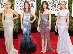 Metallic Frocks from Biggest Red Carpet Trends at the 2015 Golden Globes  Our favorite trend of the night was also the blingiest: Reese Witherspoon, Diane Kruger, Julianne Moore and Dakota Johnson and even more leading ladies took to the carpet in shimmering floor-length gowns.
