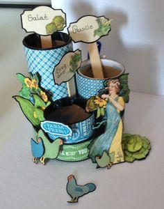 How to make seed pots using Toilet paper roll and Graphic 45 Home Sweet Home - preparing the video tutorial by Anne Rostad