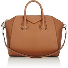 Givenchy Women's Antigona Medium Duffel Bag (10,640 GTQ) ❤ liked on Polyvore featuring bags, handbags, bolsas, givenchy, brown, givenchy bags, oversized duffle bag, duffel bag, oversized leather bag and leather duffle bag