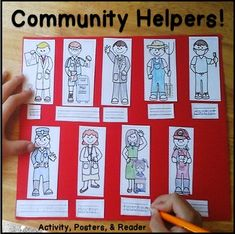 Community Helpers: includes anchor posters, a differentiated cut and paste identification activity, and an emergent reader. (paid)