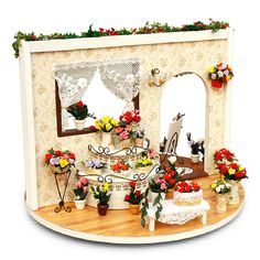 Miniatura Wooden Doll House Furniture Dollhouse Miniature Accessories Puzzle Toy Model Kits Toys Birthday Christmas Gift