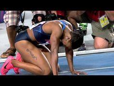 Carmelita Jeter wins the Women's 100m Final