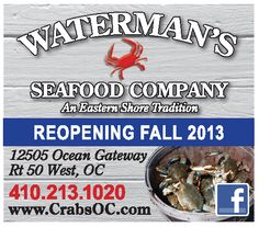 WATERMAN'S SEAFOOD COMPANY  WEST OCEAN CITY MD