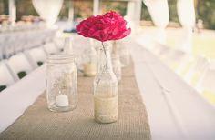 Laura + Geoff « Southern Weddings Magazine - DIY Centerpiece