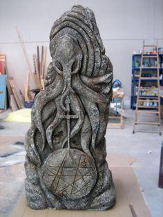 Sandra Munt FX - C'Thulhu Stone Monolith sculpture for Sandra Munt, the movie.