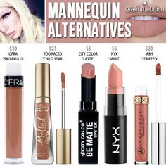 "Lipstick dupes 856669160356083685 - Jeffree star ""mannequin"" dupes // Kayy Dubb – Source by morinterschustw Beauty Blogs, Beauty Products, Beauty Ideas, Makeup Products, Jeffree Star Mannequin, Lip Gloss, Maquillage Yeux Cut Crease, Lipstick Dupes, Lipsticks"